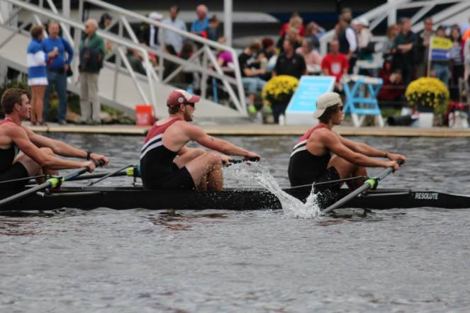 Men's Club 4 at the 2014 Head of the Charles. Markert, Lombard, Dollberg, Rein.