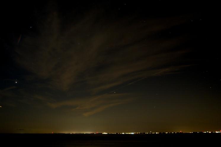Night sky, looking west.