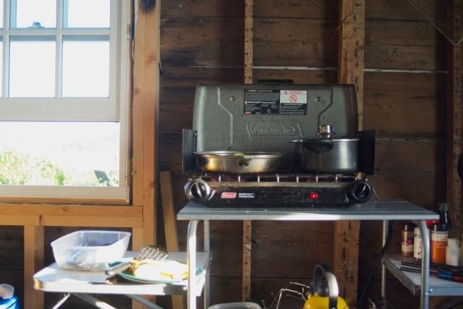 Lighthouse kitchen and its abundant rustic charm