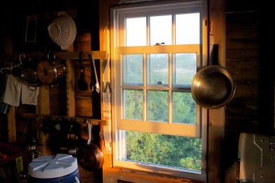 Lighthouse kitchen sunset