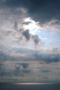 Sun over Atlantic