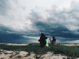 Waiting for the storm to either crash into camp or pass us by.