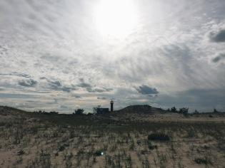 Celestial lighthouse over Monomoy Light
