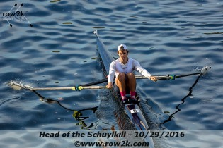 En route to a third place finish at the 2016 Head of the Charles