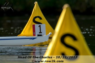 On the way to setting a course record at the 2017 Head of the Charles