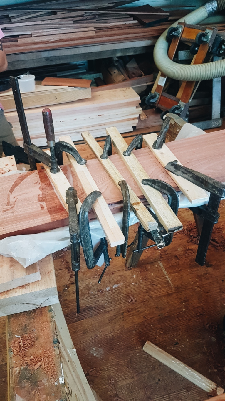 Clamps. Plenty of clamps.